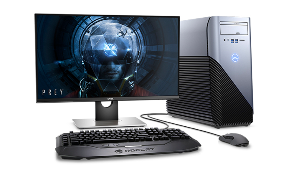 Dell Inspiron Gaming Desktop with accessories