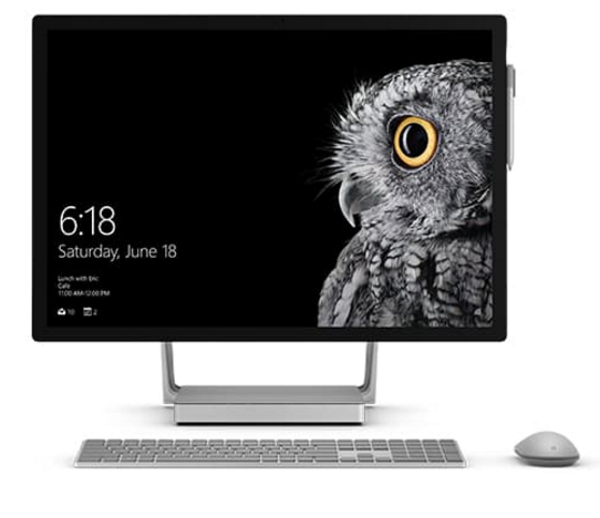 Microsoft Surface Studio; Microsoft Surface Book i7