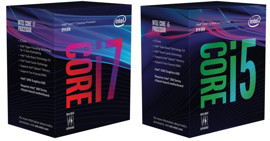 8th Gen Intel Core i7 and i5