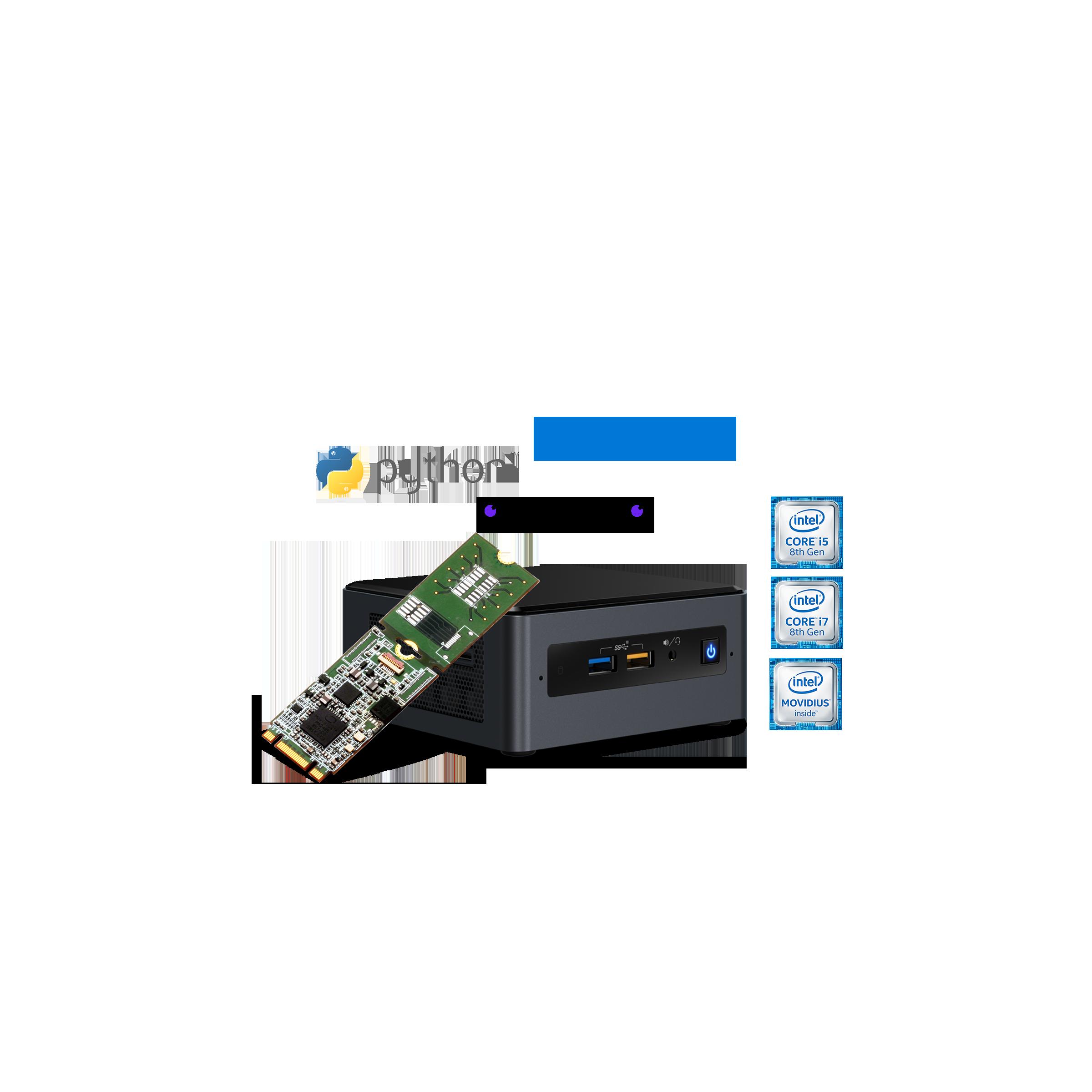 AI on PC development kit for the Intel NUC Mini PC