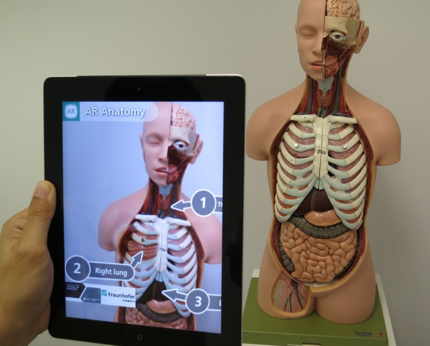 Biology app with augmented reality