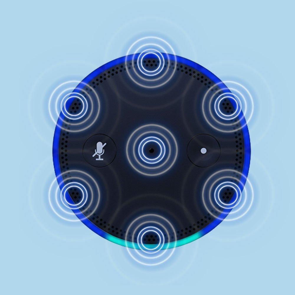Amazon Echo's 7-microphone far-field array