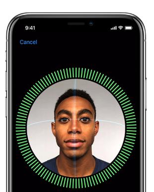 Face ID on Apple iPhone X