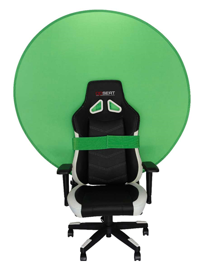 Green screen gaming chair