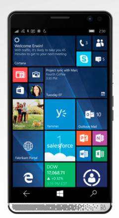 HP Elite x3 mobile device