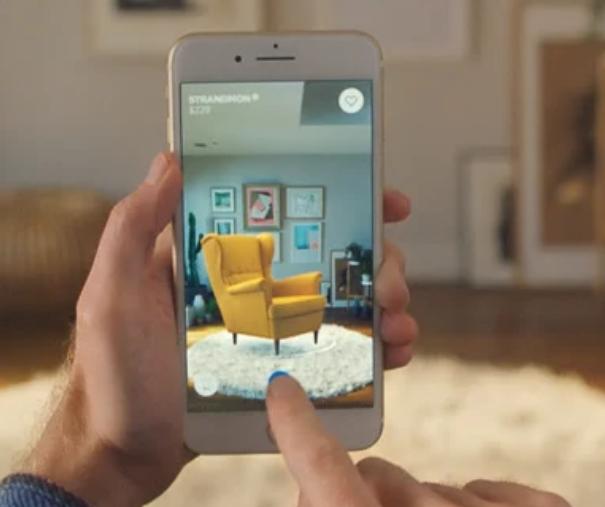 Ikea Place mobile app using LiDAR