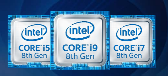 Intel 8th Gen Core i5, i9, i7 processors
