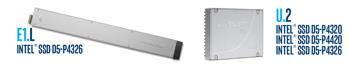 Intel QLC 3D NAND SSD drives