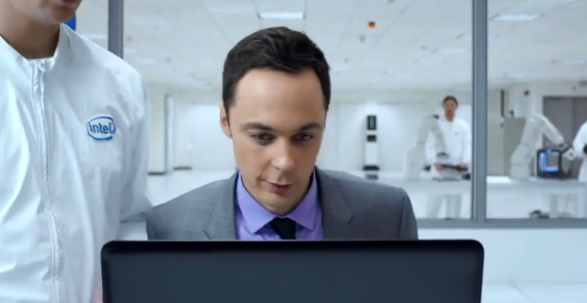 Jim Parsons in the Intel lab
