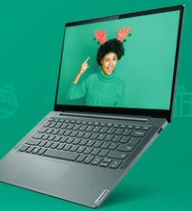 Happy holidays laptop