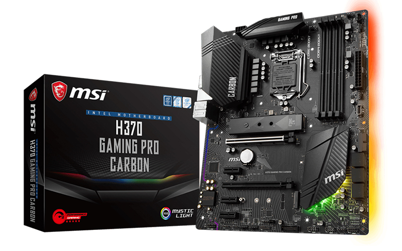 MSI H370 motherboard with Intel 300 Series Chipset