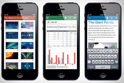 Microsoft Office mobile apps