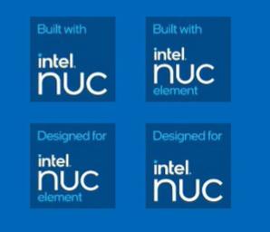 Intel NUC Co-branding badges