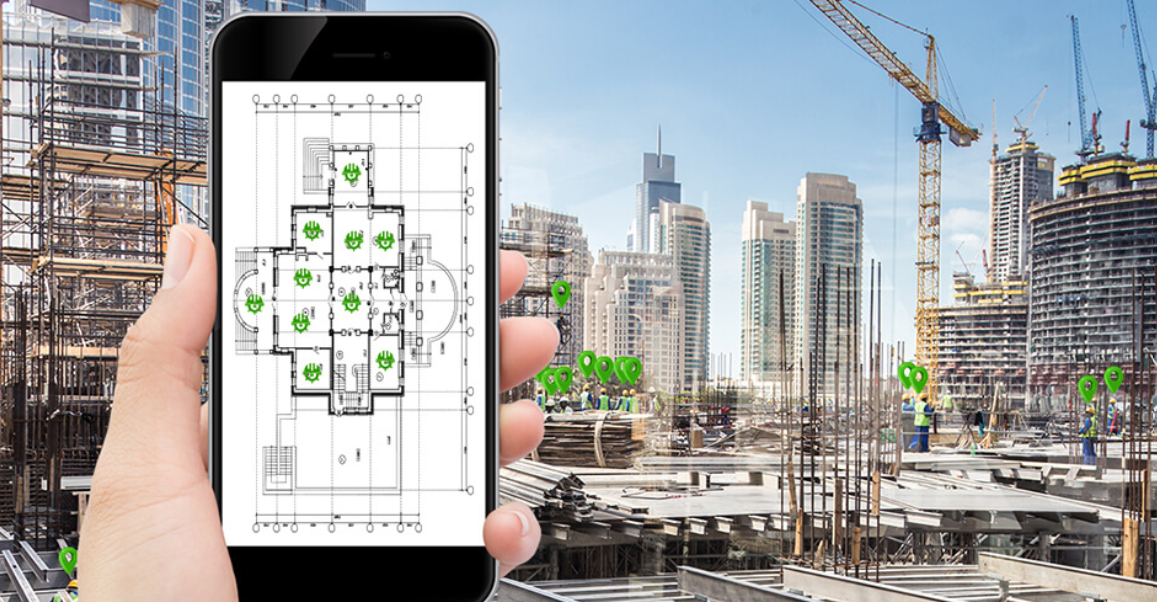 WakeCap AR app for construction
