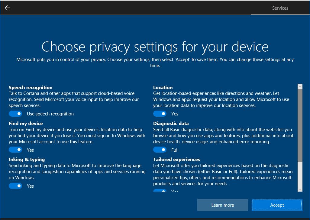 error sign in microsoft account windows 10