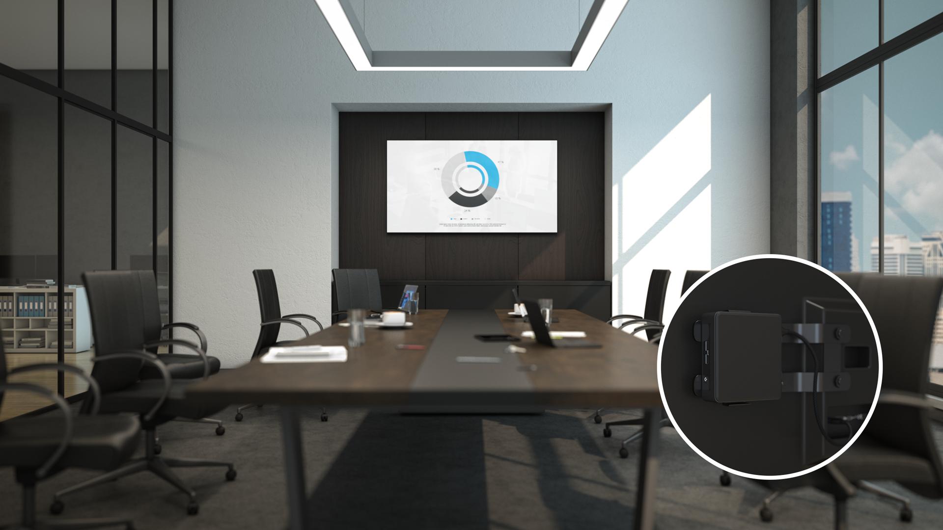 Intel NUC 8 Pro boardroom